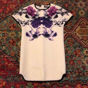 Missguided neoprene floral shift dress UK8/US4